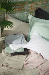 MM Linen Laundered Linen Blush Sheet Set/Pillowcases Sold Separately