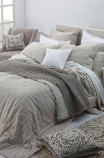 MM Linen Laundered Linen Natural Bedspread Set