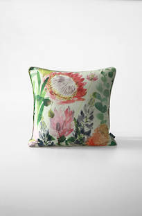 MM Linen - Protea Silk/Linen Cushion