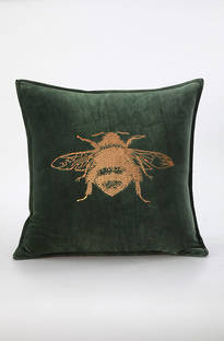 MM Linen - Beemine Embroidered Velvet Cushions