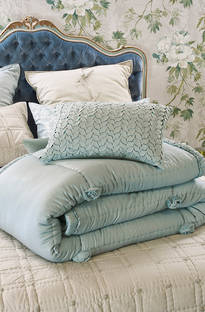 Bianca Lorenne Peony Duck Egg Comforter and Cushion