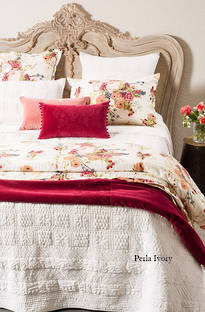 Bianca Lorenne Perla Ivory Bedspread / Pillowcases - Sold Separately