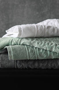 MM Linen - Charcoal Sculpture Towels