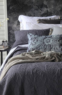 MM Linen Serene Charcoal Bedspread Set