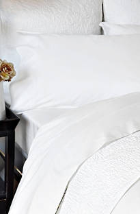 Sheridan Shawcraft Antique White Cotton Sateen Sheet Sets