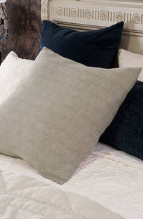Bianca Lorenne Tessere Taupe Stripe Pillowcase