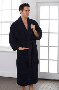 Baksana - Unisex Navy Terry Robe