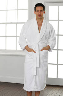 Baksana - Unisex White Terry Robe