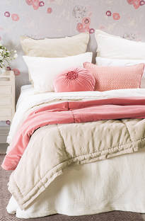Bianca Lorenne Valentina Ivory Bedspread / Pillowcases - Sold Separately
