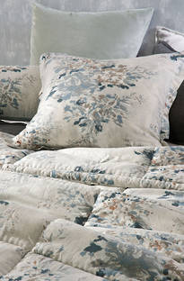 Bianca Lorenne Vernice Natural Comforter and Cushion