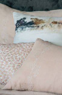 Bianca Lorenne Bellota Vintage Rose Linen Bedspread / Pillowcases - Sold Separately