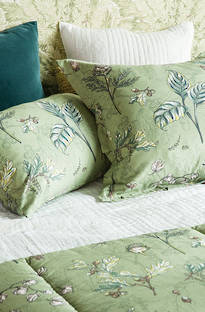 Bianca Lorenne - Botaniska Green Comforter and Cushion