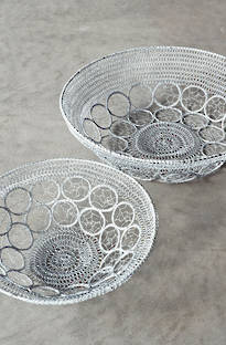 Bianca Lorenne Cesto Antique White Basket Set