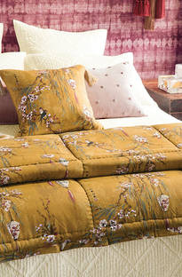 Bianca Lorenne - Chouchin Ochre Comforter and Cushion