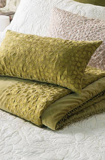 Bianca Lorenne Folia Chartreuse Comforter/Euros and Cushion - Sold Separately