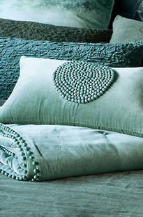 Bianca Lorenne Mara Lichen Comforter and Cushion