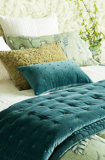 Bianca Lorenne Mica Teal Comforter and Cushion