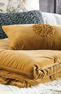 Bianca Lorenne - Mirabel Ochre Comforter and Cushion