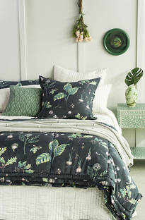 Bianca Lorenne - Botaniska Charcoal Comforter and Cushion