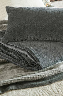 Bianca Lorenne - Sashiko Charcoal Comforter and Cushion